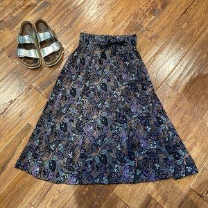 Aritzia Wilfred Grey and Purple Midi Skirt, S